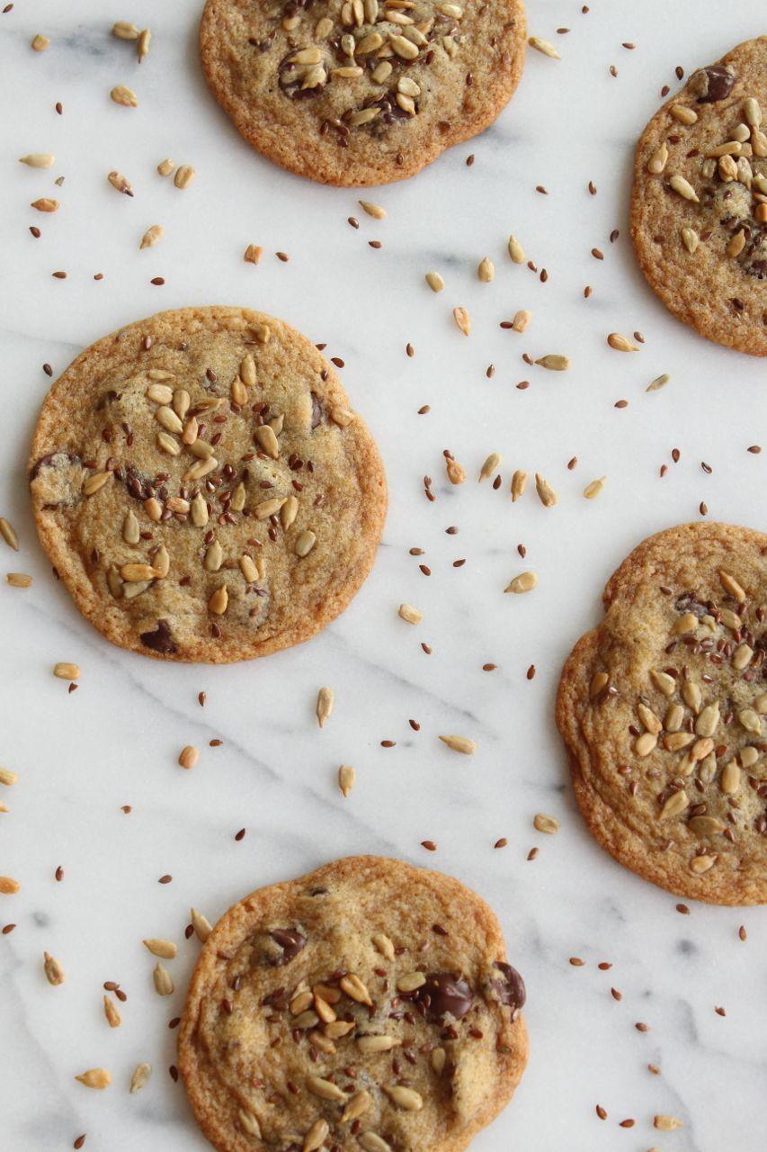 Seeded Dark Chocolate Chip Cookies | alwayseatdessert.com