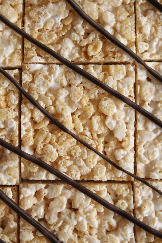 Classic Rice Krispies Treats - a childhood favorite - get an adult upgrade when made with bourbon marshmallows and brown butter.