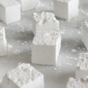 These homemade bourbon marshmallows - made without corn syrup and flavored with whiskey - are just as fun to make as they are to eat!