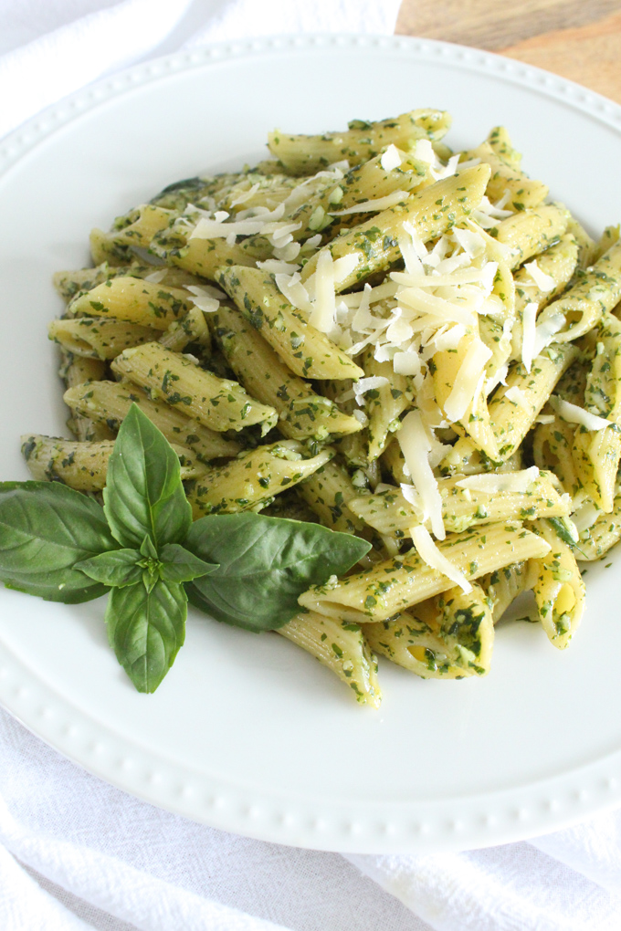 It takes just 6 ingredients and 10 minutes to make the best-tasting homemade basil pesto!