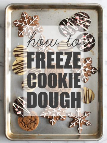 Save time and always have fresh-baked cookies ready when you want them! In this post I share everything you need to know about how to freeze cookie dough.